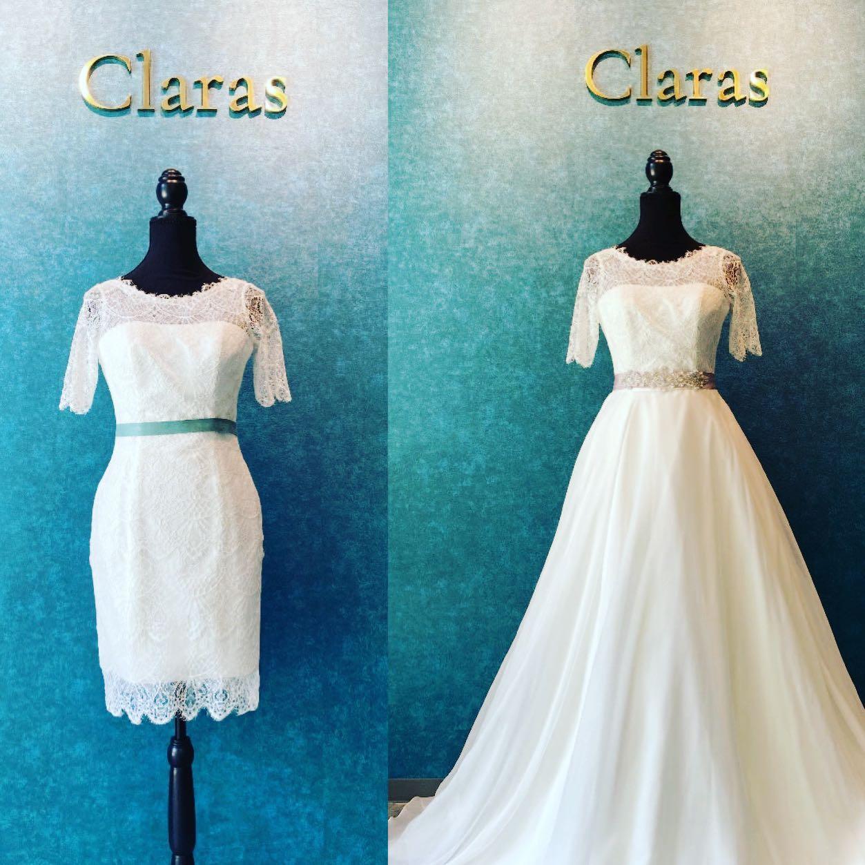 🕊多彩にスタイリングアレンジ🕊・お洒落な総レースのミニドレスにオーバースカートを重ねて一着のドレスからシーンに合わせて多彩にスタイリングアレンジできます🤍・サッシュベルトを雰囲気によって色味やデザインを変えてより一層小慣れたスタイリングに・Clarasではお客様の当日のシーンに映えるドレスとスタイリングを提案します・mini dressFATALE ¥140.000・オーバースカート15-3800 ¥140.000・#wedding #weddingdress #claras #ウェディングドレス #プレ花嫁 #ドレス試着#ドレス迷子#2021冬婚 #ヘアメイク #ドレス選び #前撮り #後撮り #フォトウェディング #ウェディングヘア  #フォト婚 #ブライダルフォト #カップルフォト #ウェディングドレス探し #ウェディングドレス試着 #ドレスショップ #家族婚 #バウリニューアル #記念日婚 #モニター募集 #ドレス迷子 #限定 #プレ花嫁 #ボヘミアンウェディング #ニューノーマル #クララス
