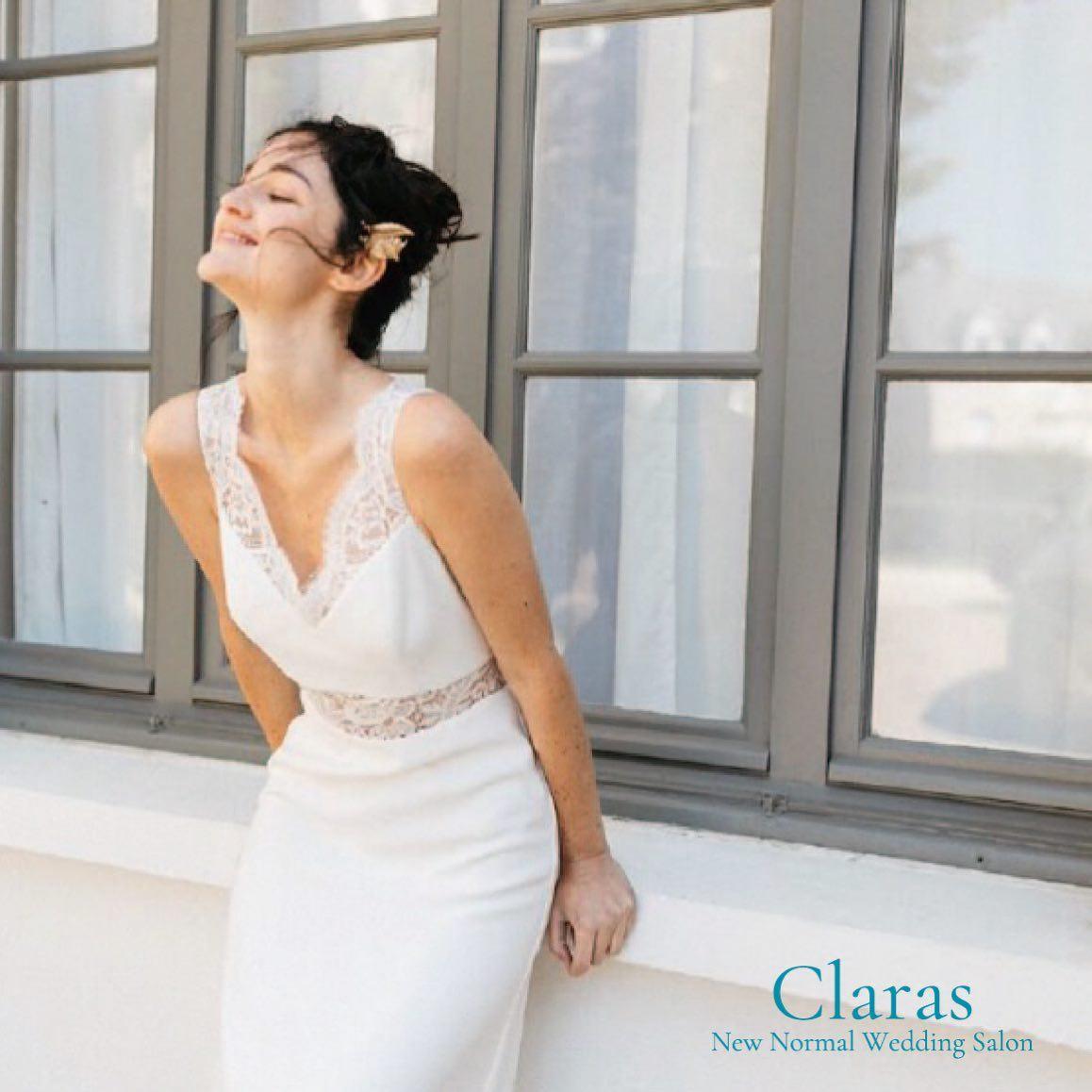 """🕊新しいドレス選びをClarasで🕊・インポートドレスを適正価格でお届けするのがClarasレンタルでは叶わない繊細で上質な素材も、ジャストサイズだから再現できるデザイン美も販売だからこそ叶えていける🤍Parisに関連会社があるからこそ直輸入での適正価格・Clarasは1組ずつ貸切でご案内寛ぎながら本当にその方に合った1着へと導きます自分だけのための1着を選びに来てください結婚式やフォトなど迷ってる方でもまずはClarasへ🤍長年様々なウエディングに携わってきたClarasスタッフより、細かなカウンセリングを行い的確ななご提案をさせていただきますご予約はDMからでも承れます・New Normal Wedding Salon""""Claras""""https://claras.jp/・about """"Claras""""…(ラテン語で、明るい·輝く)As(明日· 未来, フランス語て最高、一番) ・明るく輝く明日(未来) に貢献したいという想いを込めています🕊Fashionの都Parisをはじめ、欧米から選りすぐりのドレスをこれから出逢う花嫁のために取揃えました・2021.3.7 (Sun)NEW OPEN・Dressから始まるWedding Story""""憧れていた Dress選びから始まる結婚準備があったっていい""""・さまざまな新しい「価値」を創造し発信していきますこれからの新しい Wedding の常識を""""Claras """"から🕊・New Normal Wedding Salon【Claras】〒107-0061 東京都港区北青山2-9-14SISTER Bldg 1F(101) 東京メトロ銀座線 外苑前駅3番出ロより徒歩2分Tel:03 6910 5163HP: https://claras.jp営業時間:平日 12:00-18:00 土日祝11:00-18:00(定休日:月・火)・#wedding #weddingdress #legeretes #claras #paris #vowrenewal#ウェディングドレス #プレ花嫁 #ドレス試着 #ドレス迷子 #2021冬婚 #ヘアメイク #結婚式  #ドレス選び #前撮り #インポートドレス #フォトウェディング #ウェディングヘア  #フォト婚 #ニューノーマル #ブライダルフォト #カップルフォト #ウェディングドレス探し #ウェディングドレス試着 #セルドレス #ドレスショップ #家族婚 #バウリニューアル #記念日婚 #婚約しました"""